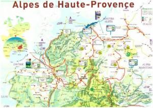 carte VTT Alpes de Haute-Provence Terre d'exception