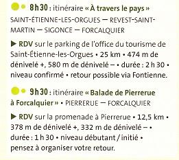 Inauguration Clés Rando & Itinéraires VTT - Communauté de Communes Pays de Forcalquier-Montagne de Lure